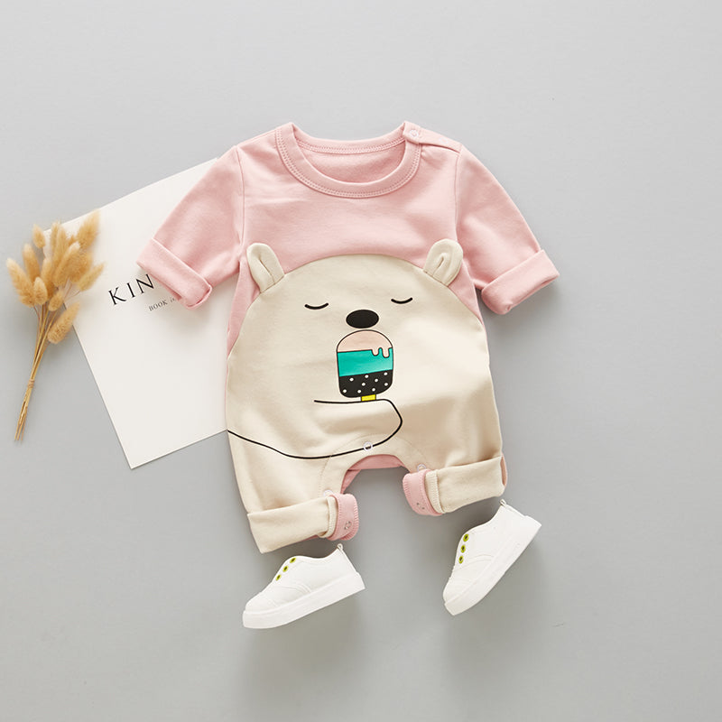 Bear With Icecream Full Sleeves Romper