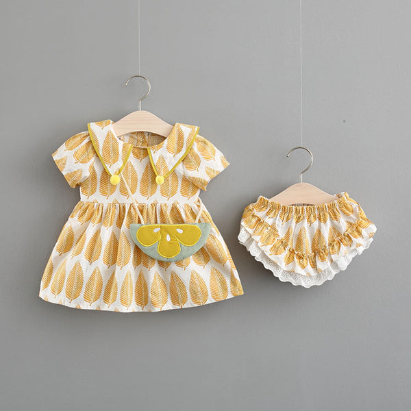 Leaf Printed Bloomer Sets