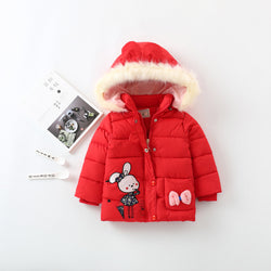 Fleece Hooded Long Winter Jacket