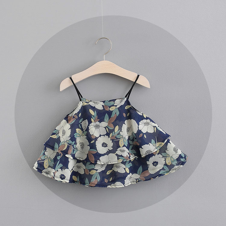 Printed Strap Sundress For Baby Girls