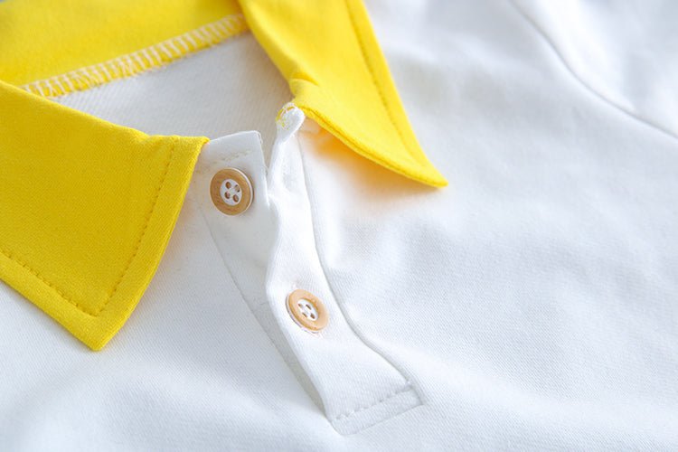 Smiley Suspender With Polo Tshirt
