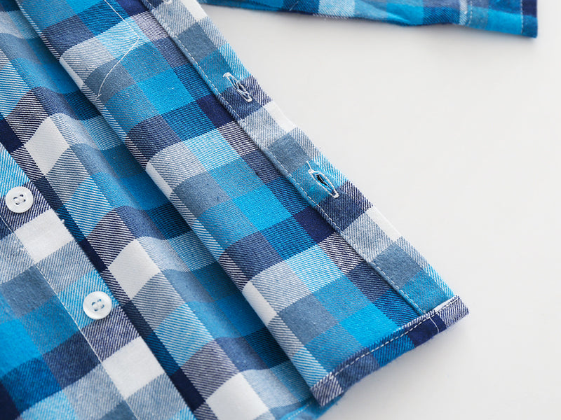 Checks Shirt Plus Denim Set For Boys