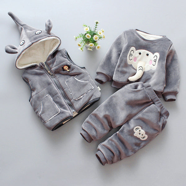Elephant Made Winter Set With Hooded West