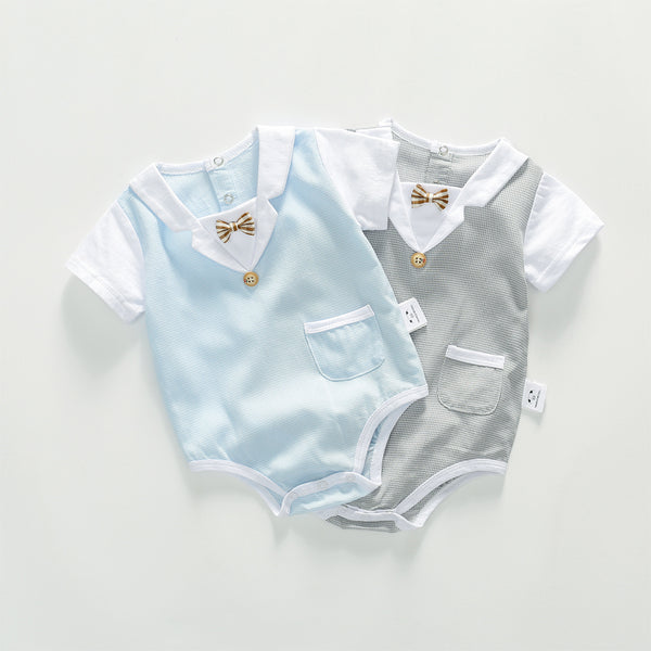 Bow Pocket Gentleman Onesie