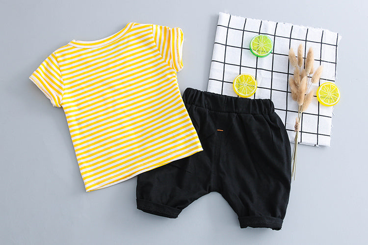 Striped Dog Summer Set