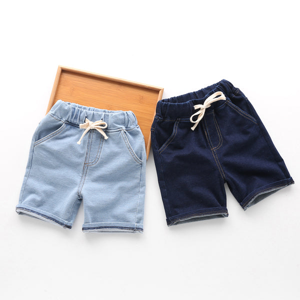 Knitted Jeans Shorts