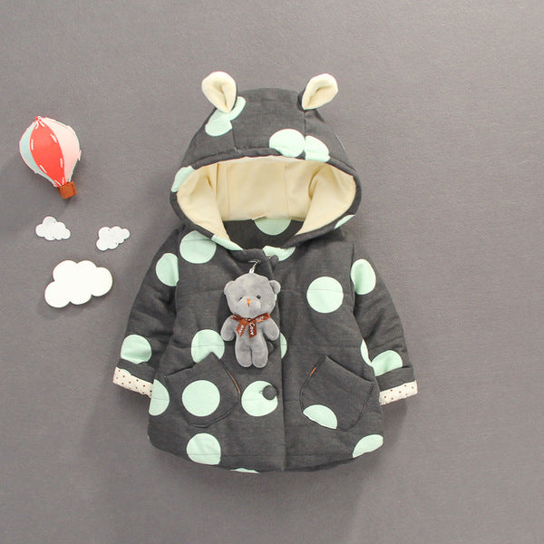Polka Dots Teddy Jacket