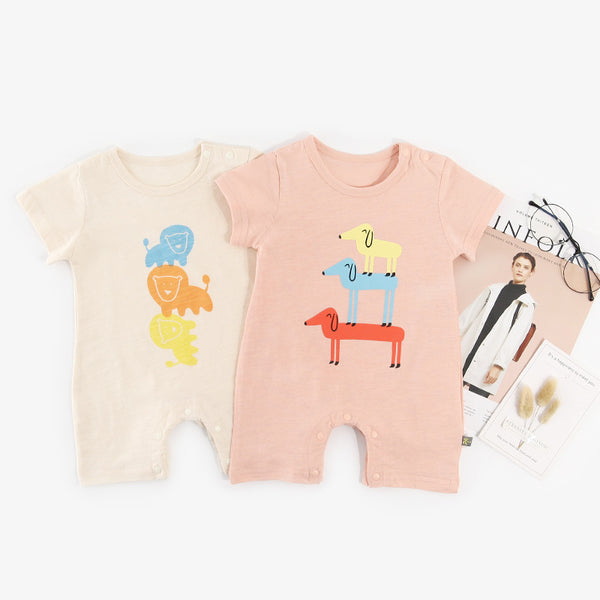 Animal Printed Bodysuits For Kids