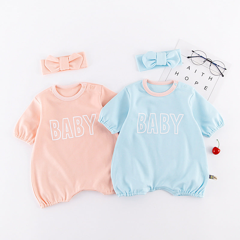 Baby Summer Rompers With Hairband