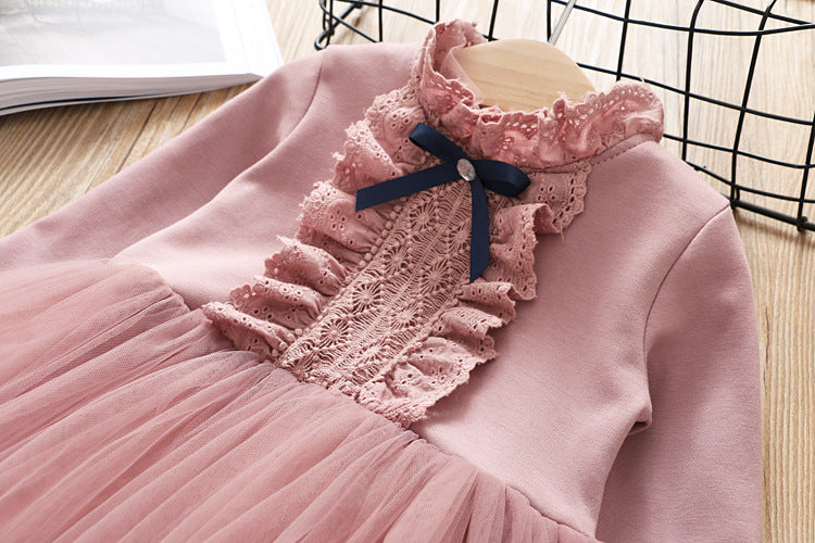 Long Sleeves Princess Dress
