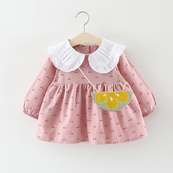 Strawberry Printed Baby Girl Dress