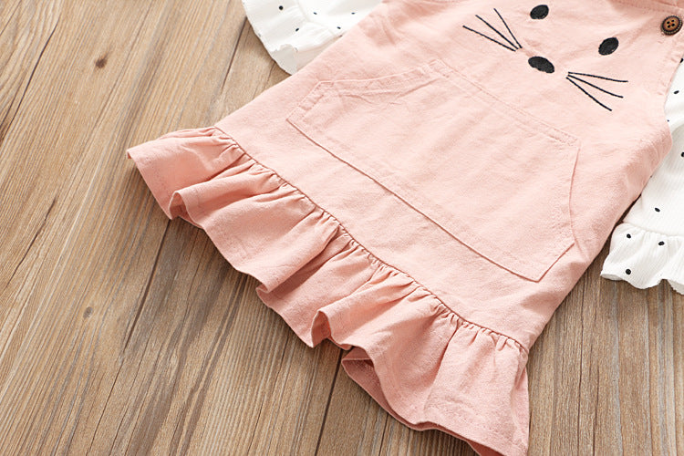Cat Overall and T-shirt for Girls