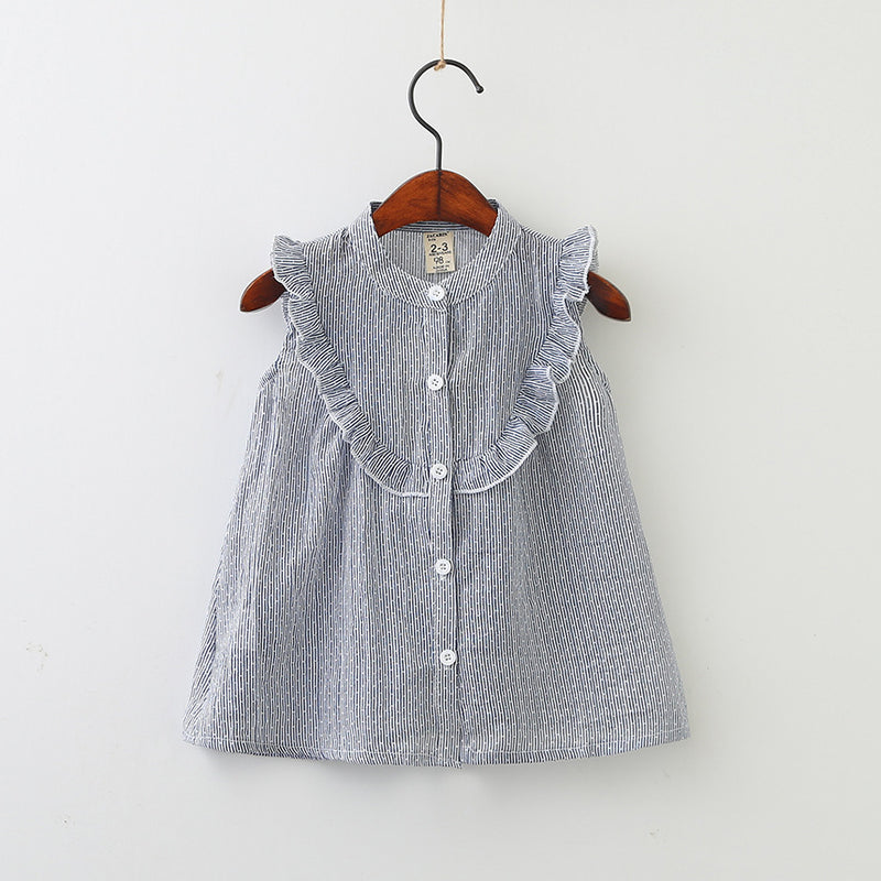 Sleeveless Ruffles Top for Girls
