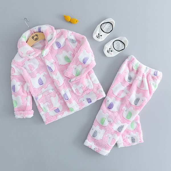 Pink Printed Night Suit