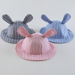 Striped Rabbit Ear Cap