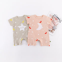 Star Moon Summer Rompers
