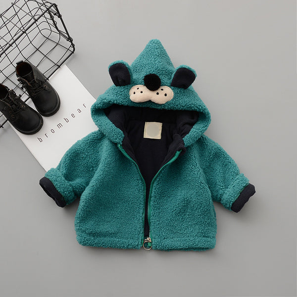 Animal Hooded Zipper Winter Jacket