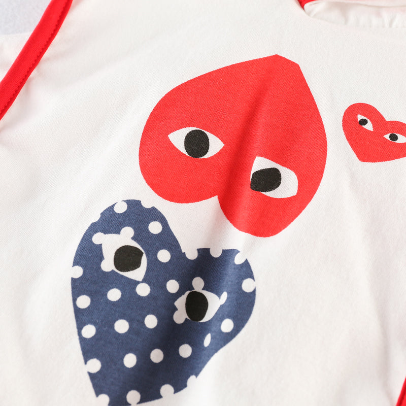 Heart Printed Hooded Summer Sets