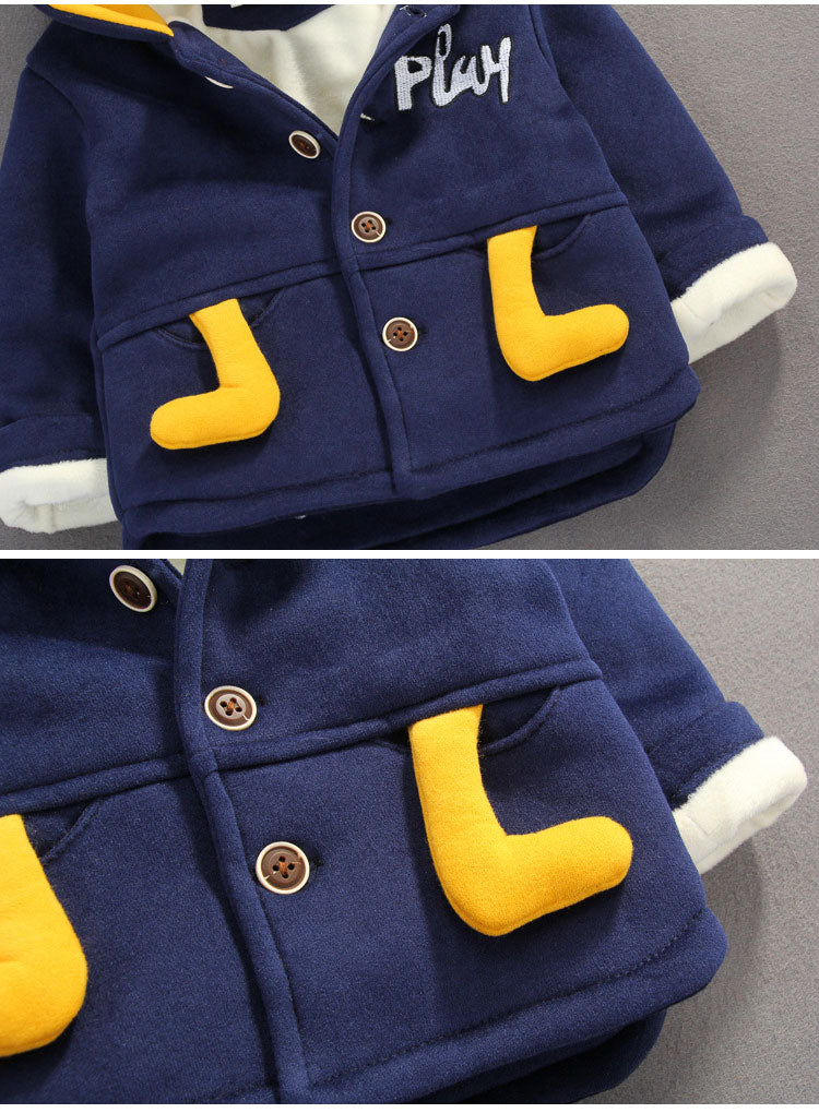 Winter Jacket With Cartoon Made on Back
