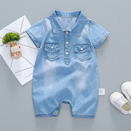 Denim Wash Romper