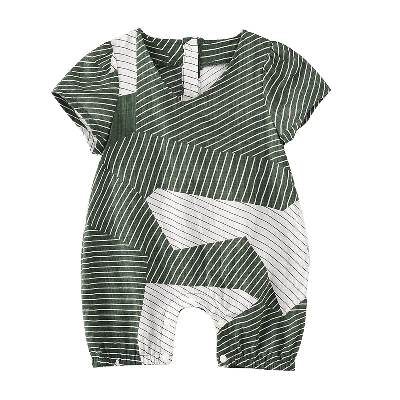 Abstract Striped Bodysuit