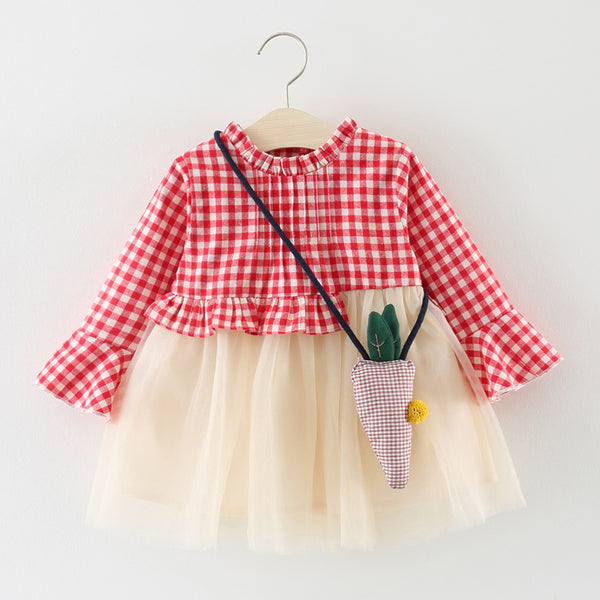 Checks Tutu Dress for Baby Girls
