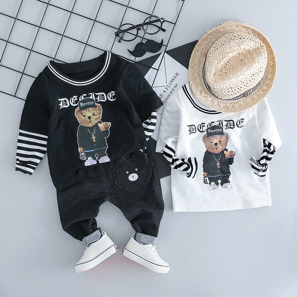 Teddy Bear Tshirt Plus Denim Set