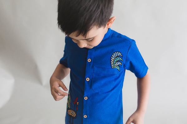 Blue Rooster Shirt