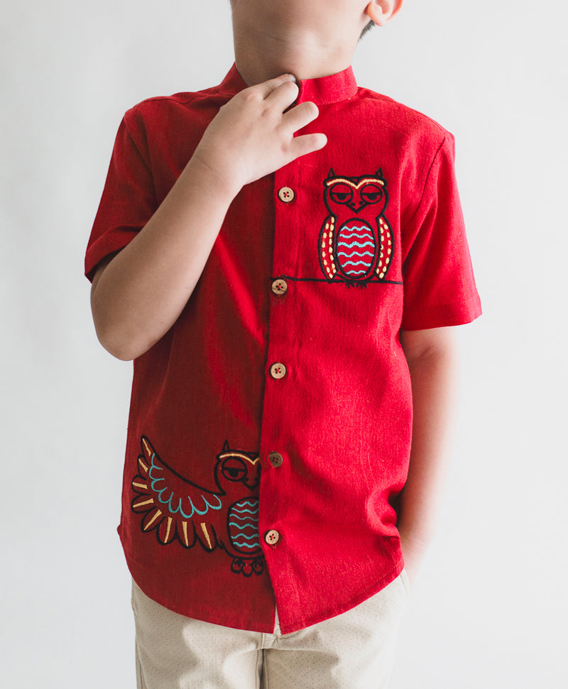 Red Owl Shirt