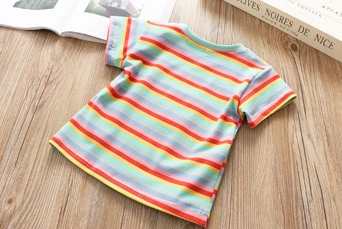 Rainbow T-shirt Dungaree Set