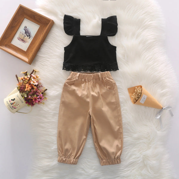 Off-Shoulder Top and Joggers Set