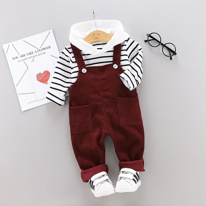 Corduroy Dungaree Set