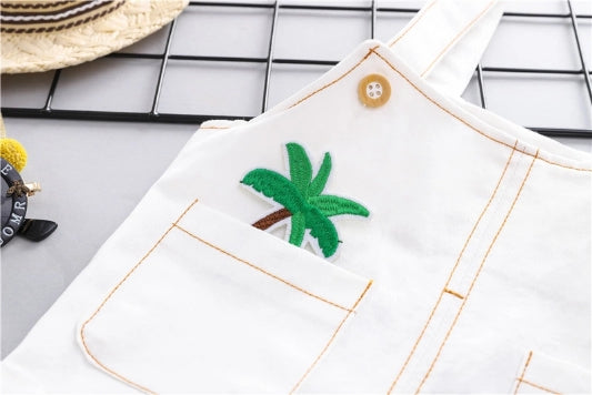 Coconut Tree Embroidered Summer Set