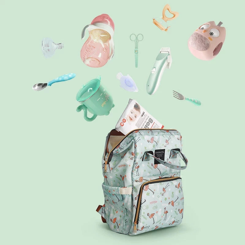 Swan Printed Diaper Bag