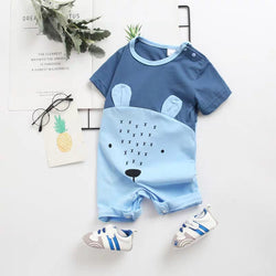 Bear Face Baby Romper
