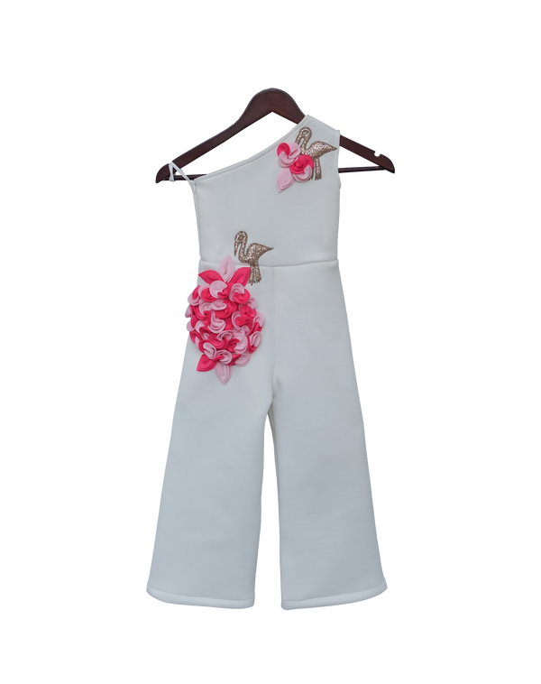 White Lycra Jumpsuit