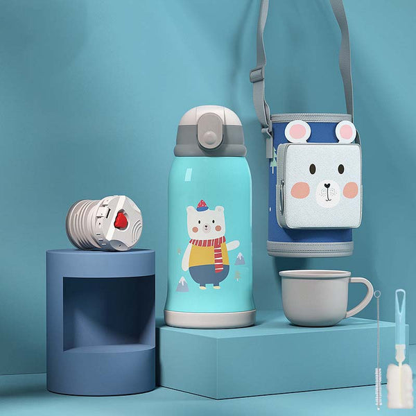 Animal Water Bottles With Bottle Bags