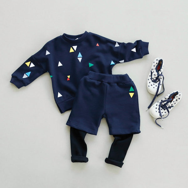 Navy Blue Matching Sweatshirts