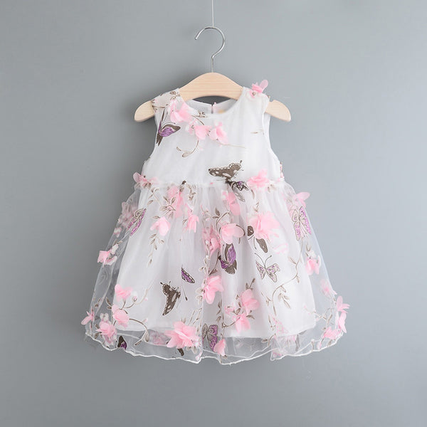 White Butterfly Dress - Baby Monk