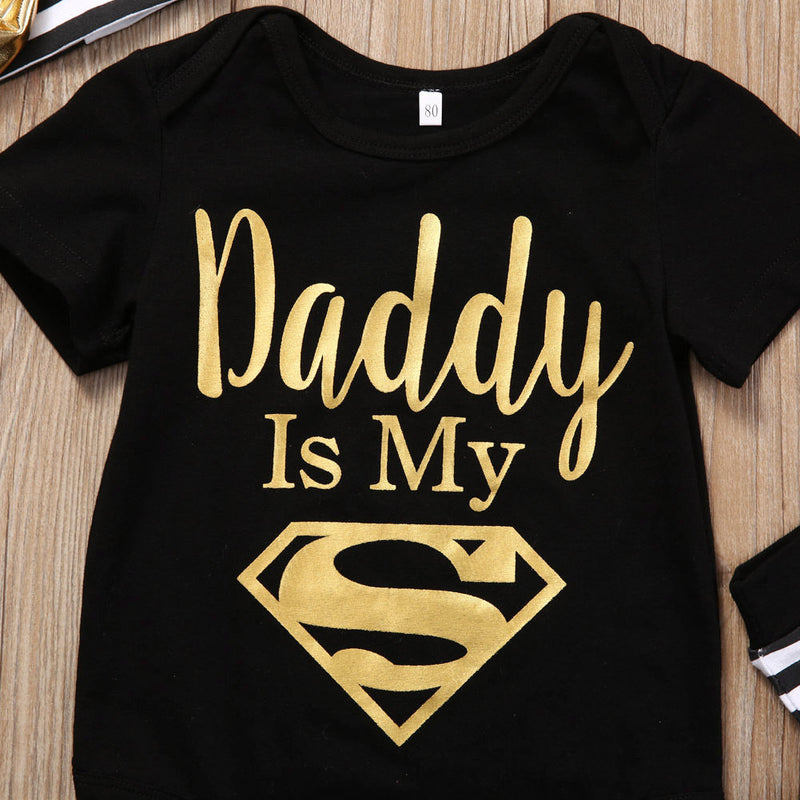 Daddy Is Superman Romper Set