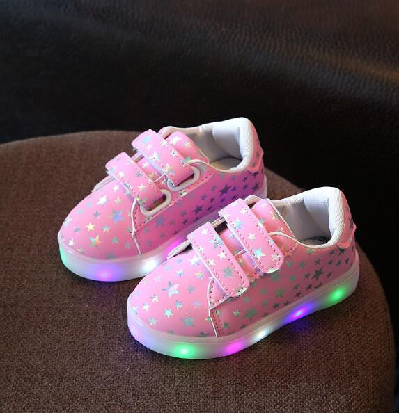 Stars Printed Led Shoes