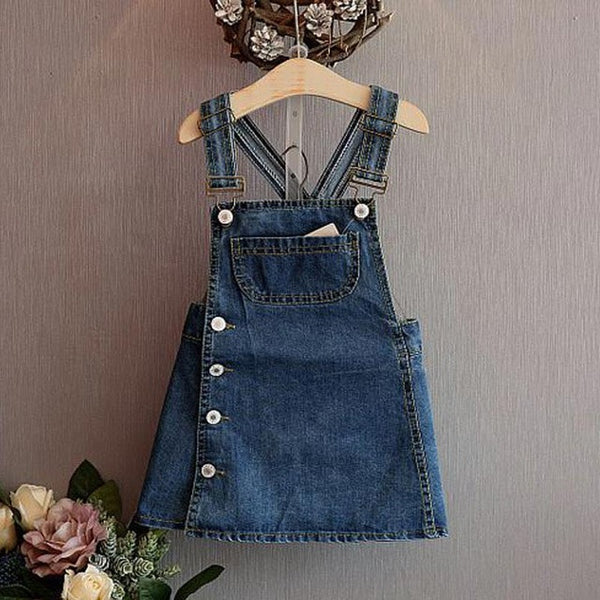 Girls Denim Dungaree