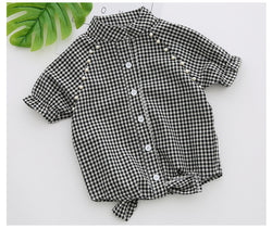 Girls Checks Shirt