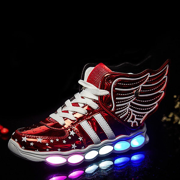 USB Charging Sports Wing Sneakers