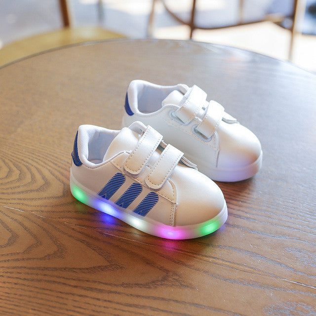 White Led Shoes