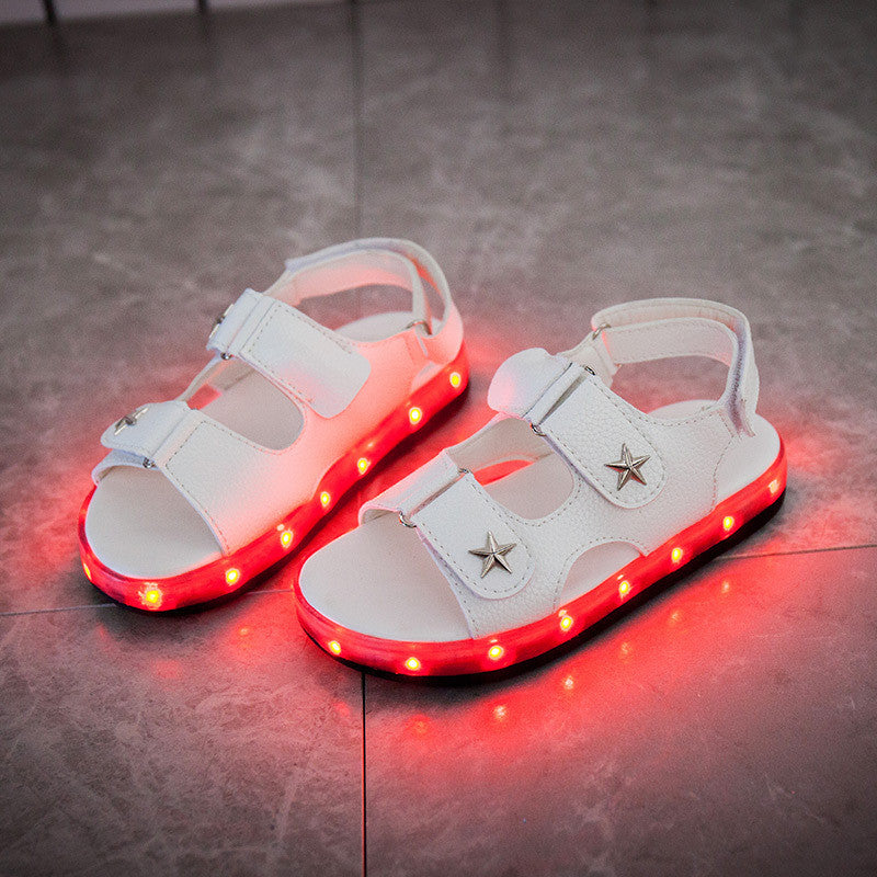LED Sandals with USB Charging