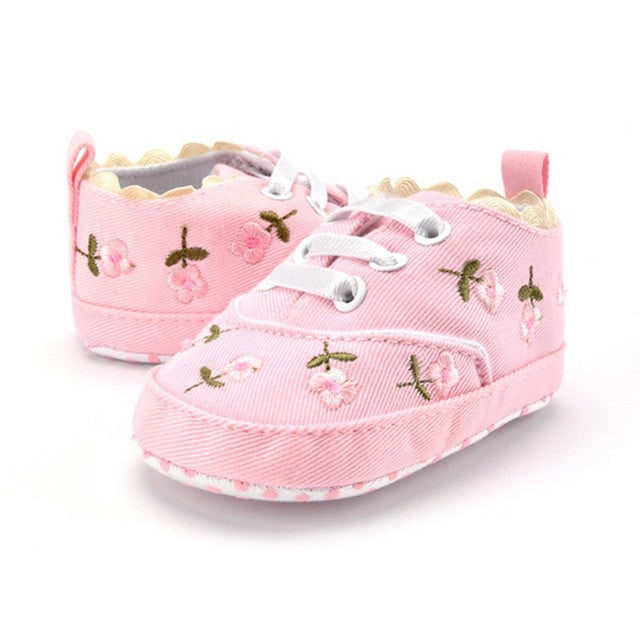 Baby Girl Flower First Walkers