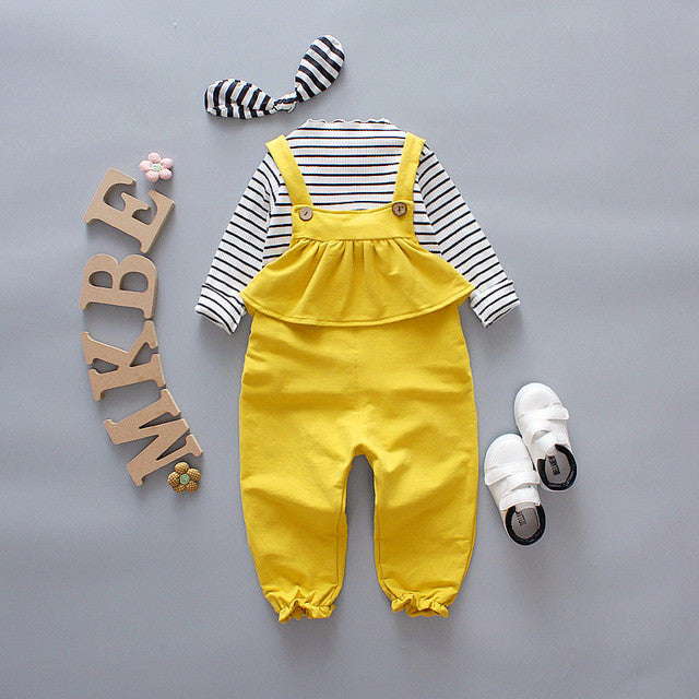 Ruffled Overall Pant Set