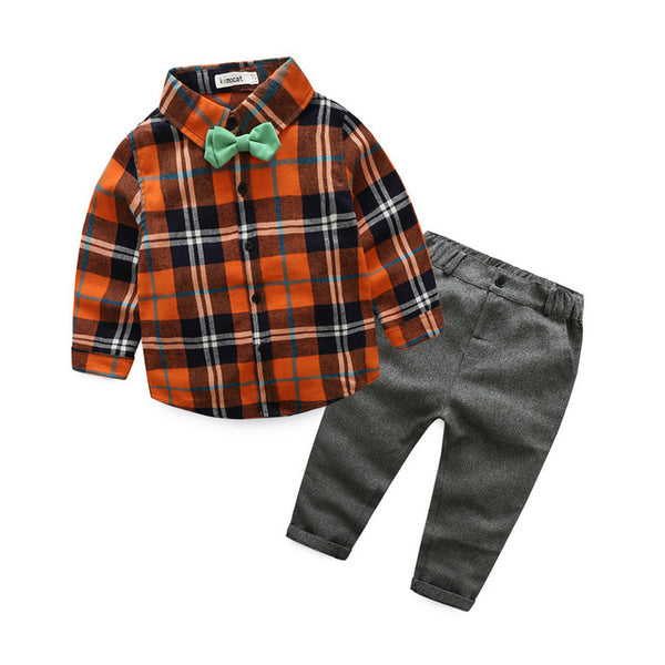Checks Shirt Plus Pant Set