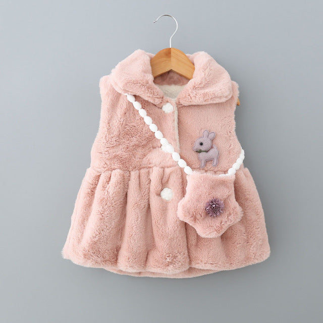 Baby Girl Winter Coat Plus Bag